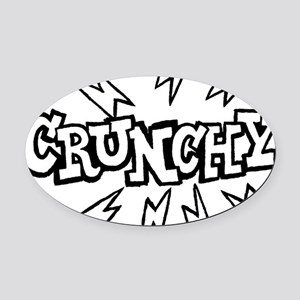 crunchy_BW Oval Car Magnet