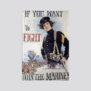 Christy Marines recruiting poster Rectangle Magnet