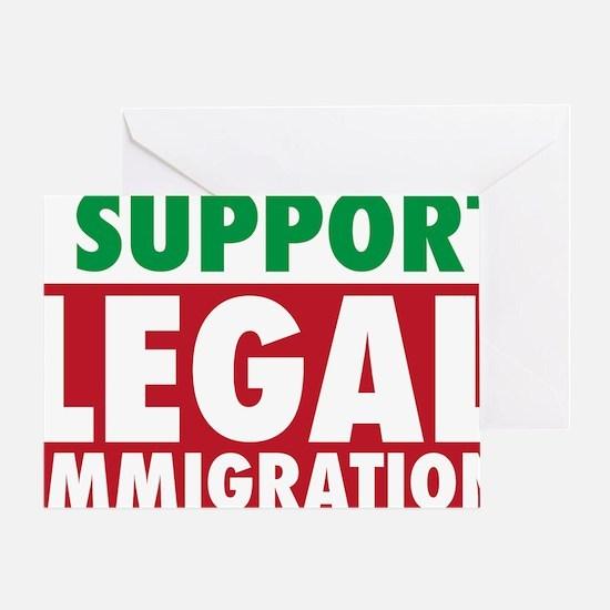 LegalImmigrationYardSign Greeting Card
