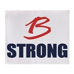 B Strong Throw Blanket