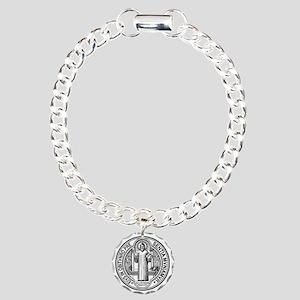 St Benedict Medal Front  Charm Bracelet, One Charm