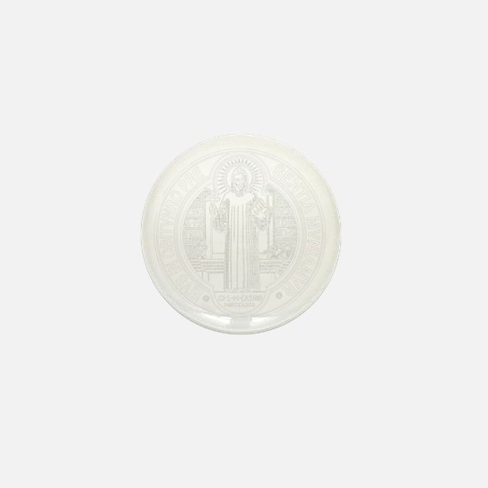 St. Benedict Medal Front  White Mini Button