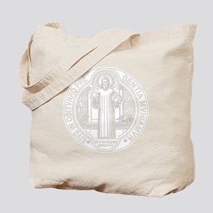 St. Benedict Medal Front  White Tote Bag