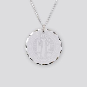 St. Benedict Medal Front  Wh Necklace Circle Charm