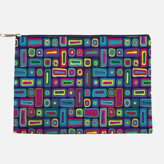 Mid Century Rectangles Makeup Pouch