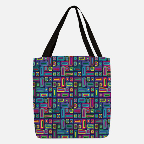 Mid Century Rectangles Polyester Tote Bag