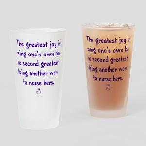 Greatest_Joy_Round Drinking Glass