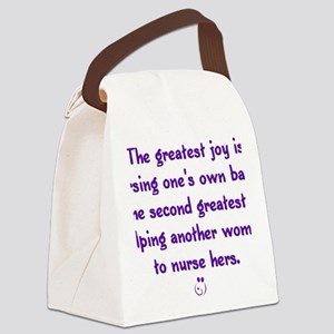 Greatest_Joy_Round Canvas Lunch Bag