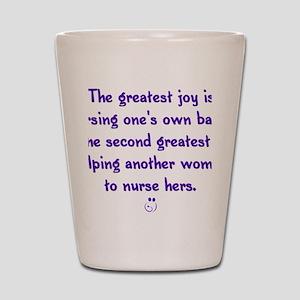 Greatest_Joy_Round Shot Glass