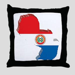 MapOfParaguay2 Throw Pillow