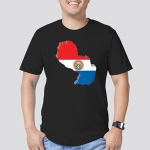 MapOfParaguay2 Men's Fitted T-Shirt (dark)