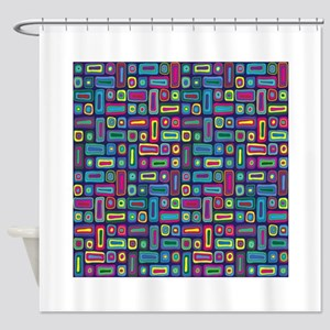 Mid Century Rectangles Shower Curtain