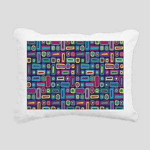 Mid Century Rectangles Rectangular Canvas Pillow