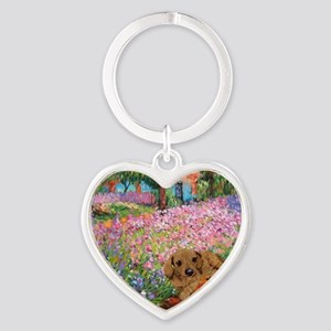 painting flowers tigher 12x16 copy Heart Keychain