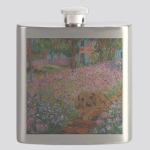 painting flowers tigher 12x16 copy Flask
