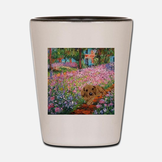 painting flowers tigher 12x16 copy Shot Glass