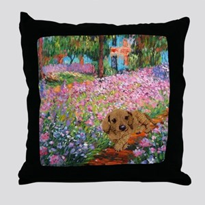 painting flowers tigher 12x16 copy Throw Pillow