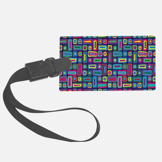 Mid Century Rectangles Luggage Tag