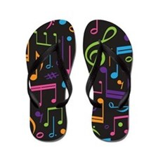 Cute Music Choir Band Student Flip Flops