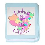 Linhai China Map Baby Blanket