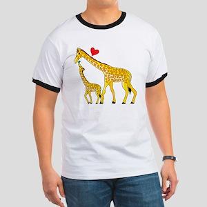 giraffe and baby cp wht Ringer T