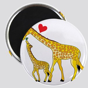 giraffe and baby cp wht Magnet