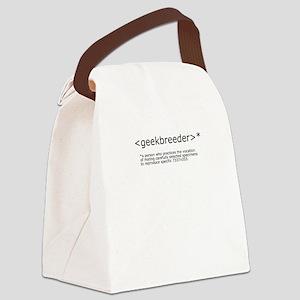 geekbreeder-text-shirt-front Canvas Lunch Bag