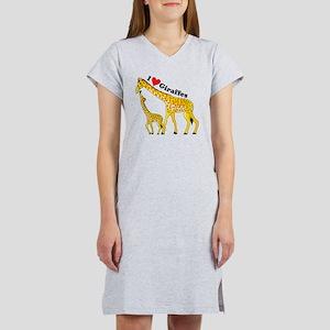 giraffe and baby cp Women's Nightshirt