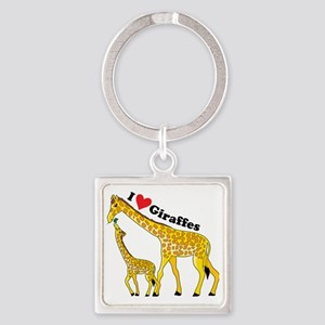 giraffe and baby cp Square Keychain