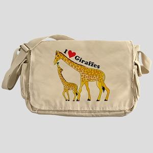 giraffe and baby cp Messenger Bag