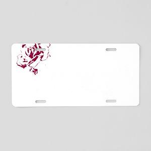 Tribal White Aluminum License Plate