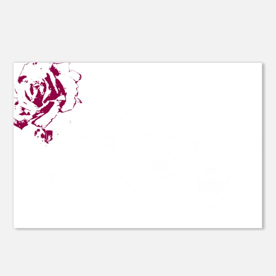 Tribal White Postcards (Package of 8)