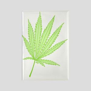marijuana leaf-color-lighter-001  Rectangle Magnet