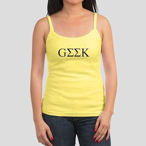 Greek Geek Jr. Spaghetti Tank