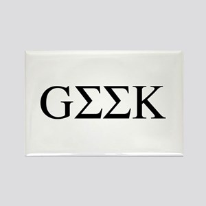 Greek Geek Rectangle Magnet