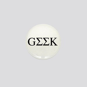 Greek Geek Mini Button