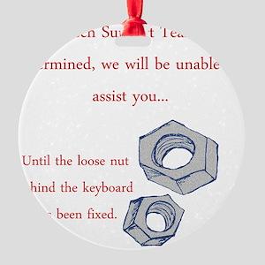 2-Nut dark Round Ornament