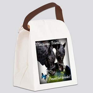 horsedrinks3 Canvas Lunch Bag