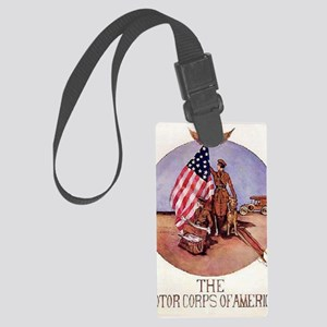 The Motor Corps of America Large Luggage Tag