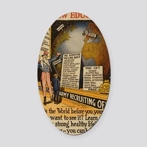 WW I Recruiting Army GREAT Oval Car Magnet