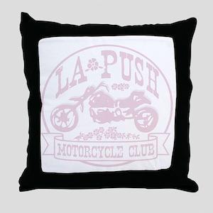 lapush cycles LIGHTpink Throw Pillow