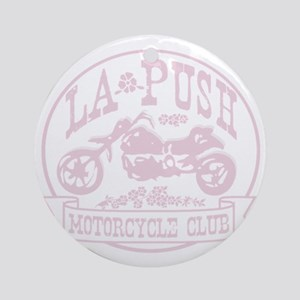lapush cycles LIGHTpink Round Ornament