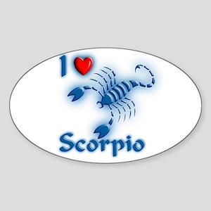 I Love Scorpio Oval Sticker