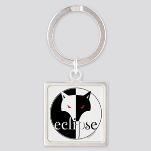 Eclipse Lone Wolf by Twibaby Square Keychain