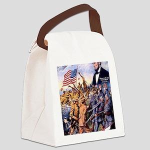 WW I recruiting USA blackww1 Canvas Lunch Bag