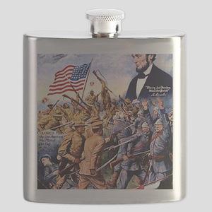 WW I recruiting USA blackww1 Flask