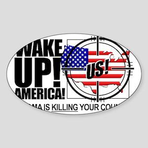 2012-wake-up-america-obamas-katrina Sticker (Oval)