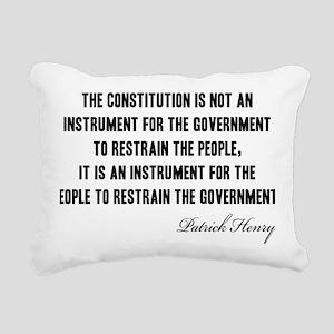 Patrick-Henry-(govt)-whi Rectangular Canvas Pillow