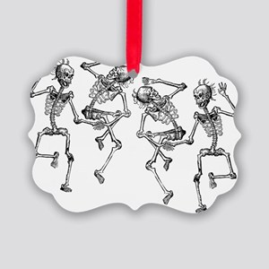 skeletons dancing Picture Ornament