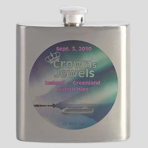 Crown's Jewels logo ... Flask